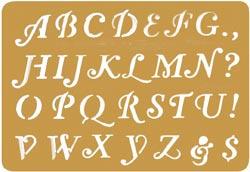 Alphabet Stencils Page
